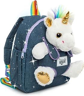 Kids Backpack for Girls Boys w Stuffed Animal