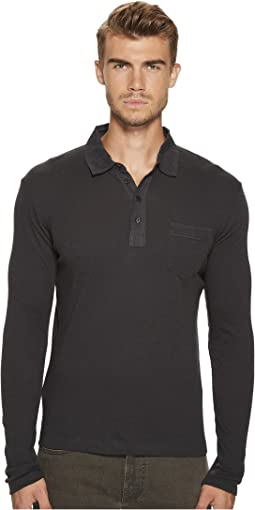 Billy Reid - Long Sleeve Cashmere Blend Polo