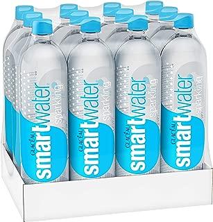 smartwater sparkling water, vapor distilled carbonated water bottles, 1 Liter, 12 Pack