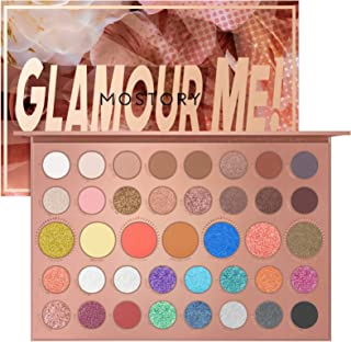 MOSTORY Glamour Me Eyeshadow Palette - 39 Shades Makeup Palette Highly Pigmented Matte Eye Shadow Pallet Nude Shimmer Matallic Easy to Blend Sweatproof Waterproof Makeup Set (Glamour Me)