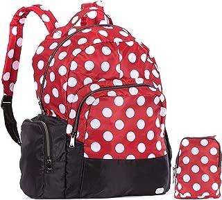 Lug womens Echo Packable, Crimson, Lg Dot