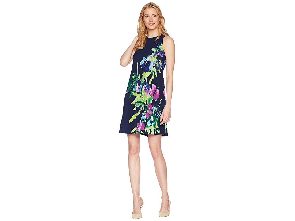 LAUREN Ralph Lauren Great Outdoors Floral Suzan Dress (Lighthouse Navy/Blue/Multi) Women