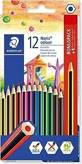 STAEDTLER Noris colour pencils 185 SET9, pack of 12 plus free Noris graphite pencil
