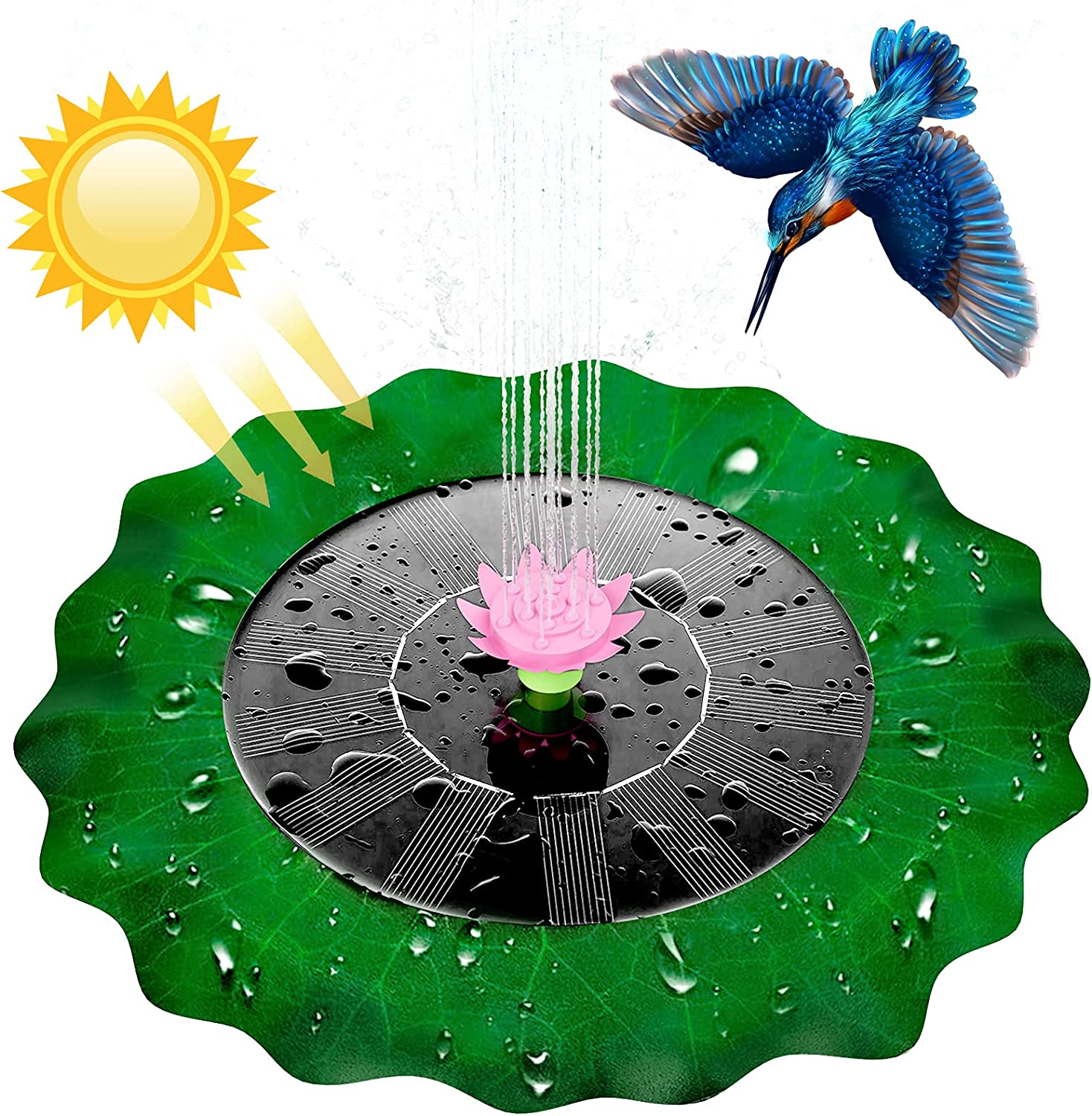 2021 Solar Water Pond Lotus-Leaf Fountain Milwaukee Mall Pump F Special price