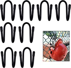 YYST Fence Helmet Gloves Hanger Holder Dugout Organizer - Organize Your Helmets and Gloves Off The Ground - Softball & Baseball Sports Equipment Caddy - No Helmet