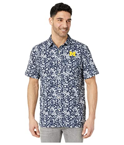 Columbia College Michigan Wolverines CLG Super Slack Tidetm Shirt (Collegiate Navy) Men