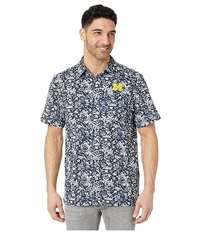 Columbia College Michigan Wolverines CLG Super Slack Tide Shirt (Collegiate Navy) Men