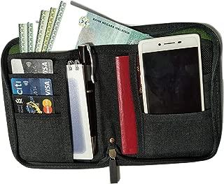 Travelus 旅行护照钱包收纳包男女通用护照夹套可放置您的旅行证件 - 护照、登入护照、信用卡、现金、钢笔和手机
