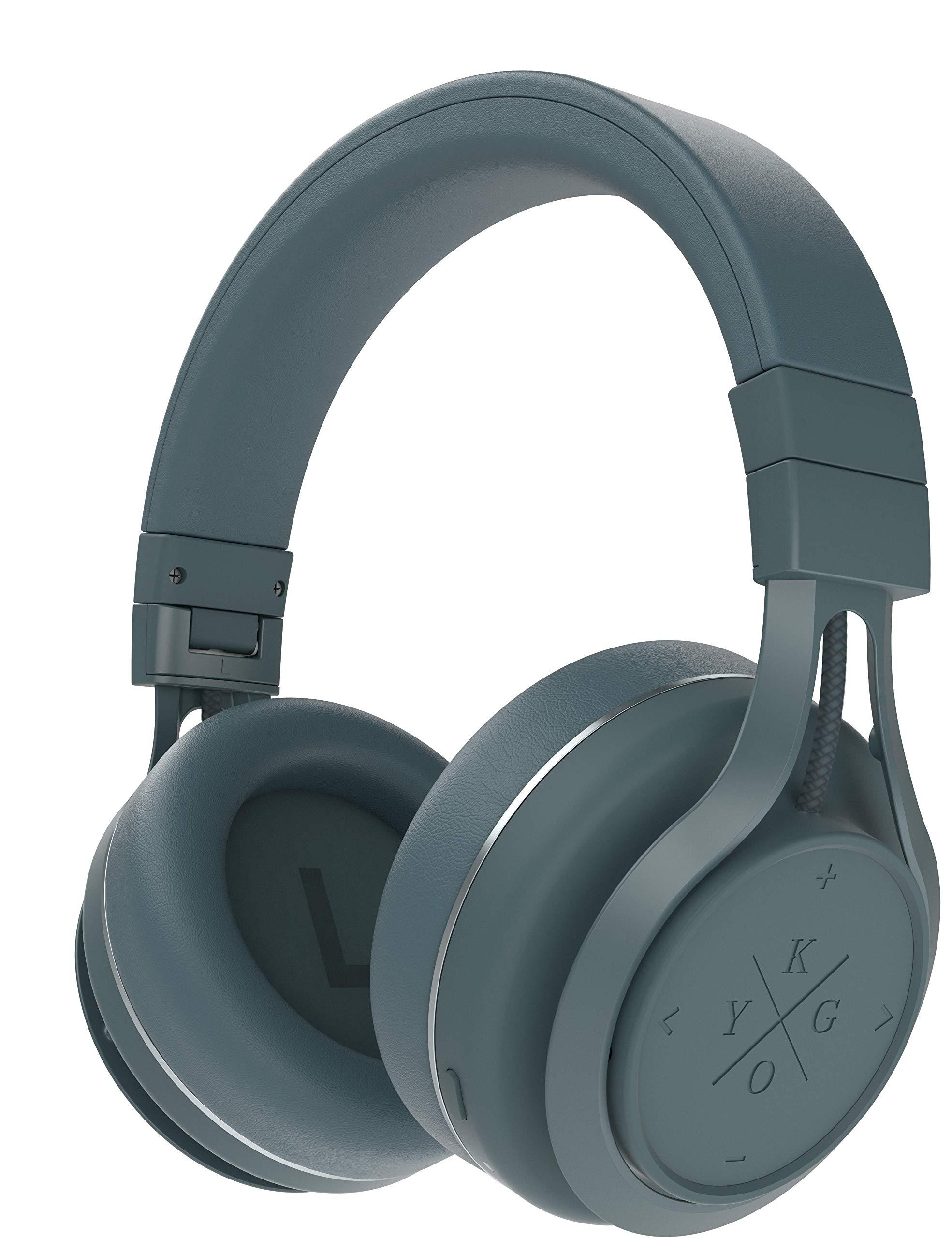 Amazon Com Kygo Life A9 600 Over Ear Bluetooth Headphones Aptx And Aac Codecs Built In Microphone Nfc Pairing Memory Foam Ear Cushions 23 Hours Playback Kygo Sound App Pro Line Storm Gray Electronics