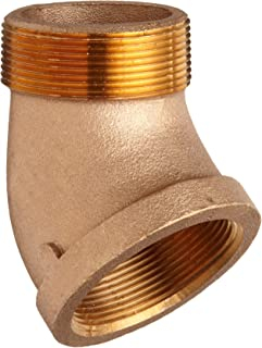 Lead Free Brass Pipe Fitting, 45 Degree Street Elbow, Class 125, 1/2