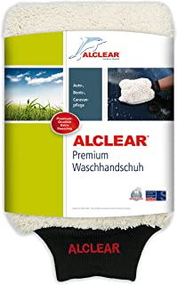 ALCLEAR 950013WH Guante de Microfibra para Lavar el Coche con jabón Trapo abrillantador o Gamuza de Microfibra, para Coches, Motos