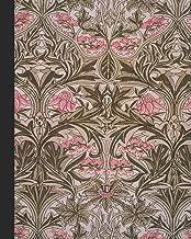 Vintage illustration journal: Unique designed dot grid Journal for the vintage illustration lover - Arts and craft movement - William Morris - Pink and sage Vintage Bluebell or Columbine