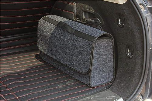 House of Quirk Car Trunk Organizers Large Anti Slip Car Trunk Compartment Boot Storage Organizer Utility Tool Bag (Da...