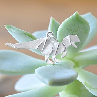 sterling silver dinosaur necklace