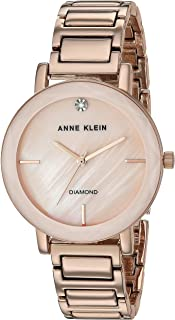 Women's Diamond Dial Bracelet Watch with Faceted Lens
