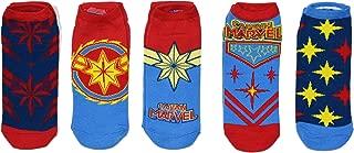 Captain Marvel Costume 5 Pack Ankle Socks Size 4-10
