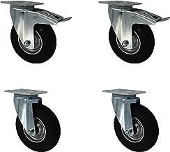 Set 200 mm Luftbereifte R/äder Rollen Transportrollen Lenkrollen Bockrollen TK 300 kg