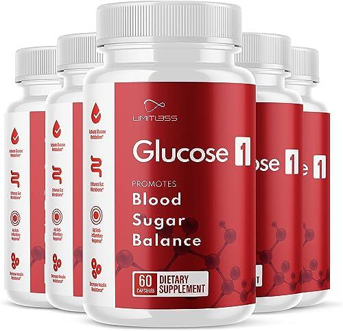 discount Glucose 1 Blood lowest Sugar Balance Pills Glucose1 for Healthy Blood Sugar Levels online sale Supplement (5 Pack) outlet sale