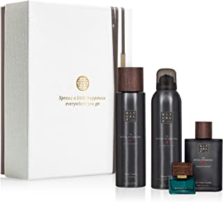 RITUALS The Ritual of Samurai Luxury and Relaxing Beauty Gift Set Large for Men. Contains a Shower Foam, Shaving Gel, Aftershave and Eau de Parfum