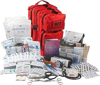 کیت ترومای تاکتیکی Luminary به طور کامل کوله پشتی کیت کمک های اولیه کوله پشتی EMS/EMT کیسه پزشکی اشکال پاسخگوی اولیه برای حرفه ای های آماده و در فضای باز (قرمز)