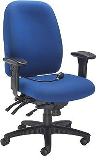 Silla de Oficina Office Hippo, 24 Horas, Espalda Alta, con Brazos y Soporte Lumbar, Ajustable, Tela, Tela, Azul Real, 69x67x110.5 cm