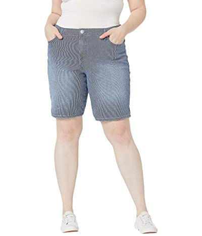 Gloria Vanderbilt Plus Size Mid-Rise Feminine Cut Bermuda Shorts