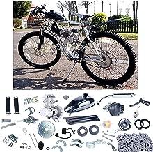 YaeCCC Bicycle Motor Kit 80cc 2 Stroke Motor Engine Mountain Bike Upgrade Kit Gas for Motorized Bicycle Bike Kits Silver
