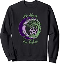 Wiccan Pagan Witch Tree of Life, As Above, So Below Art Sweatshirt