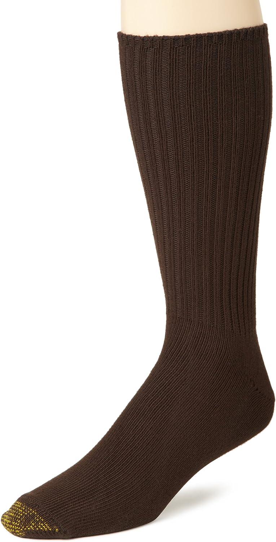Gold Toe Men's Cotton Fluffies Crew Socks, Multipairs