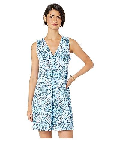Lilly Pulitzer Amina Dress (Resort White Call My Shell Phone Engineered Amina Dress) Women