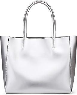 Anynow Luxurious Women's Genuine Leather Handbag Fashion Cowhide Shoulder Bag Ladies Tote Bag