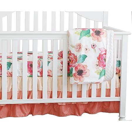 Gray Pink Blanket Girls Nursery Blanket Floral Fur Blanket Ready to Ship Girls Stroller Blanket Ready to Ship Boho Nursery Bedding