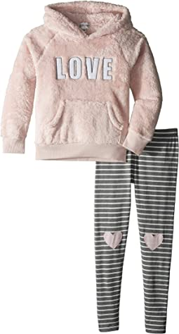 Playful Plush Hoodie Legging Love Set (Toddler/Little Kids/Big Kids)