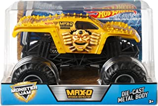 Hot Wheels Monster Jam Gold Max-D Vehicle, 1:24 Scale