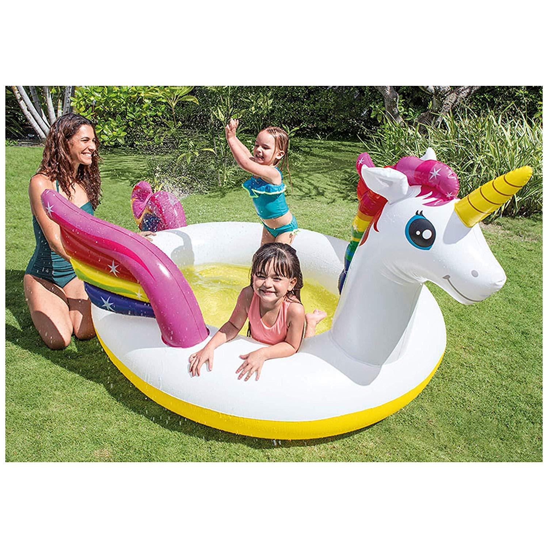 Intex 57441NP - Unicornio Hinchable Piscina con pulverizador: Amazon.es: Jardín