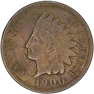 1900 U.S. Indian Head Cent/Penny Coin - 1c Circulated Good and Better