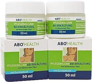 ABOHEALTH Erkältungsbalsam Pflegebalsam bei Erkältung mit Eukalyptus und ätherischen Ölen, 100ml 2 x 50 ml Doppelpack