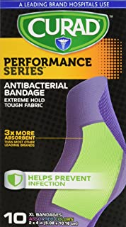 Curad Performance Series Antibacterial Adhesive Bandages, 30 Count (Pack of 8)