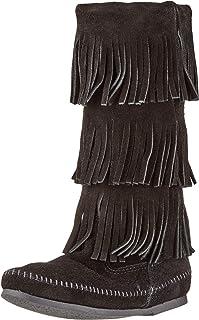 Minnetonka 3-laags fringen dames halfschacht mocassin boots