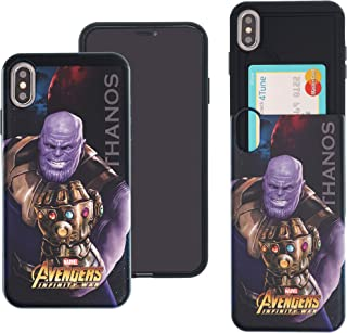 iPhone Xs/iPhone X Case Marvel Avengers Infinity War Slim Slider Cover : Card Slot Shock Absorption Dual Layer Holder Bumper for [ iPhone Xs/iPhone X ] Case - Thanos