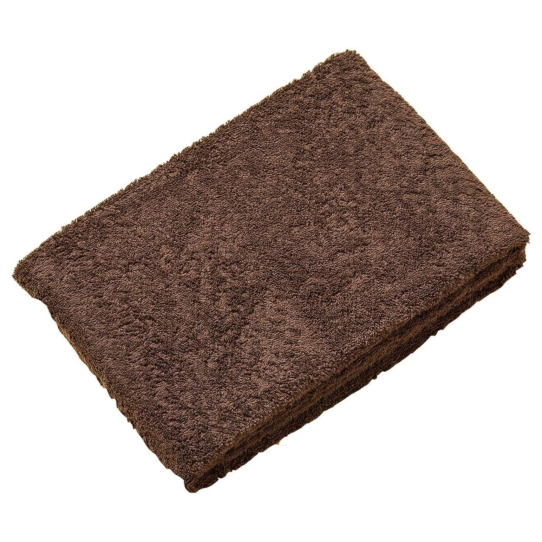 ローズくすぐったい受賞【世界三大コットンを使用 上質な肌触りの皇帝フェイスタオル(2枚組)】 タオルに最適なスーピマ綿を使用 シルクのような美しい光沢 綿100% 吸水速乾性と耐久性が高い (ブラウン色)
