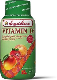VegaVites Vitamin D3 Gummy Vitamins 2000 IU - Boosts Immune System! - Vegetarian, Halal, Kosher Adults & Children - Non GM...