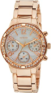 Guess Casual Watch Analog Display Japanese Quartz For Women W0546L3, Rose Gold Band