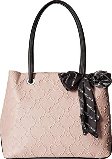 Womens Heart Tote with Scarf
