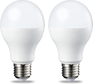 AmazonBasics Bombilla LED Esférica E27, 14W (equivalente a 100W), Blanco Frío - 2 unidades