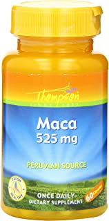 Thompson Maca Capsules, 525 Mg, 60 Count (Pack of 2)