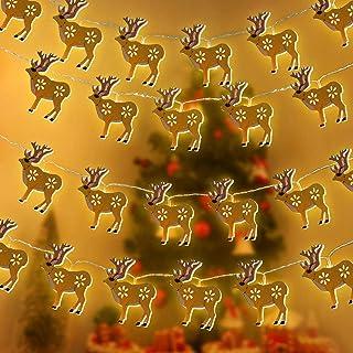 LED Lichterkette 6 Elch Figuren mit warm weißem Licht