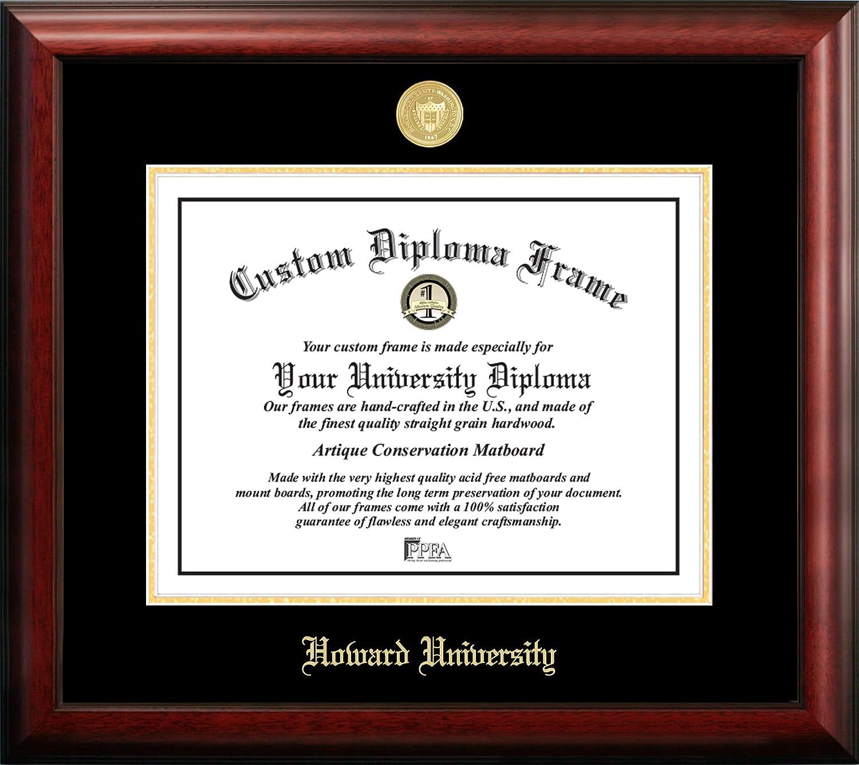 Howard Boston Mall University 17 x 13 [Alternative dealer] Inchesh Diploma Frame Embossed Br Gold