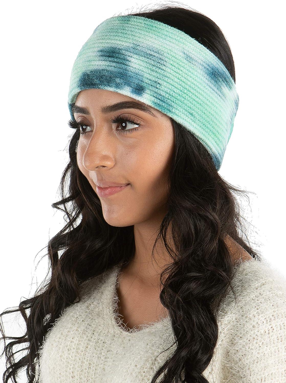 Funky Junque Women's Headwrap Tie Dye Headband Soft Knit Warm Winter Ear Warmer