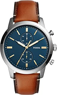Men's Townsman Stainless Steel and Leather Casual Quartz...